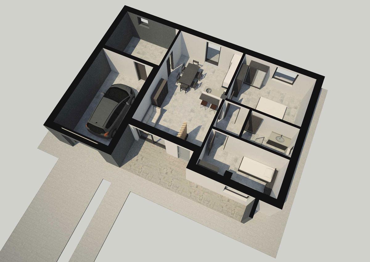 Progetto Appartamento 50 Mq progetto casa 50 mq > preventivi | dnvisionrender.it
